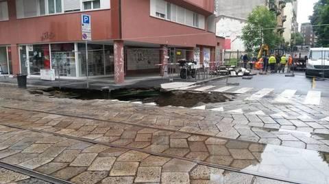 La voragine in corso di porta romana a milano il - Corso di porta romana ...
