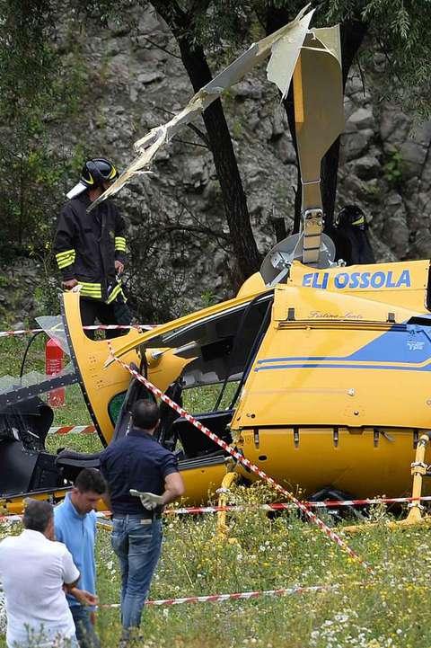 Elicottero Antincendio : L elicottero antincendio regionale precipitato a lago del