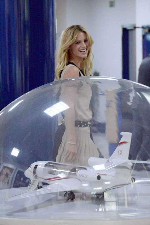 Aereo Privato Hunziker : Michelle huniker e tomaso trussardi partono con un aereo