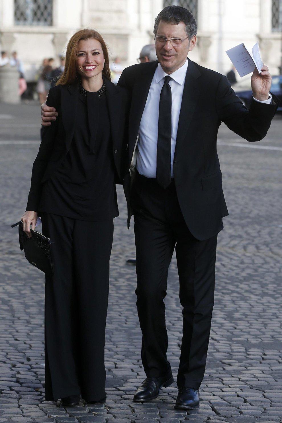 Fabrizio frizzi e la moglie carlotta mantovan il for Mantovan carlotta