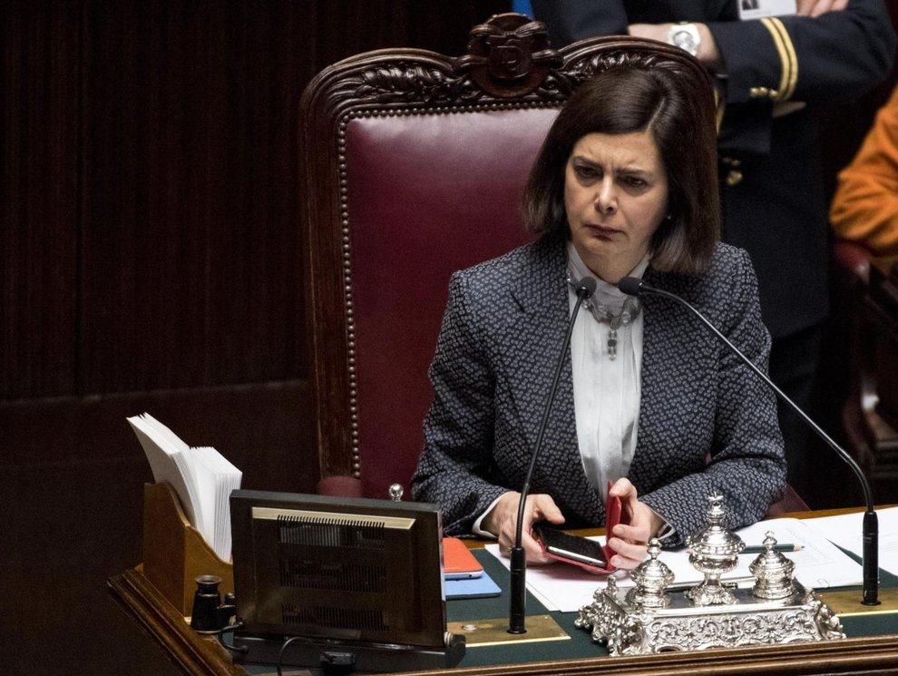 La presidente della camera laura boldrini il for Presidente della camera attuale