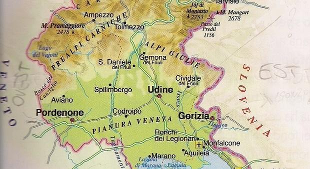 Cartina Friuli Venezia Giulia E Veneto.La Cartina Geografica Della Vergogna Il Libro Di Scuola Della Quinta Elementare E Pieno Di Errori